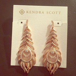 3c8257418 Kendra Scott Jewelry - Kendra Scott Elettra Statement Earrings Rose Gold
